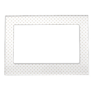 Magnetic Frame White with Golden Dots