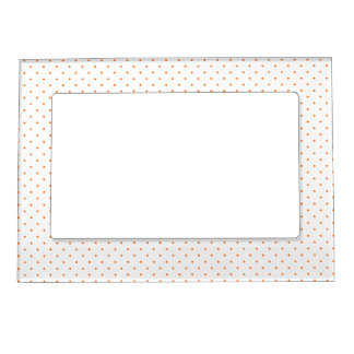 Magnetic Frame White with Orange Dots