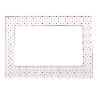 Magnetic Frame White with Red Dots