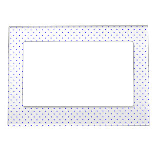 Magnetic Frame White with Royal Blue Dots