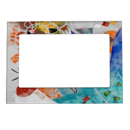 Magnetic Frame with Art design by P.Diaz 4x6