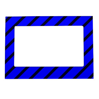 Magnetic Frame with Dark Blue-Royal Blue Stripes
