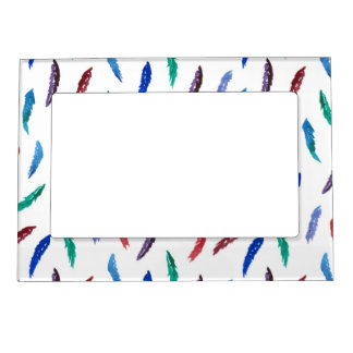 Magnetic frame with feathers