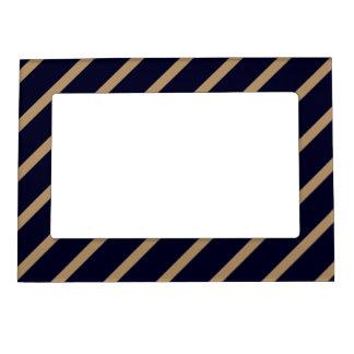 Magnetic Frame with Gold-Dark Blue Stripes