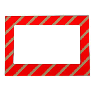 Magnetic Frame with Gold-Red Stripes
