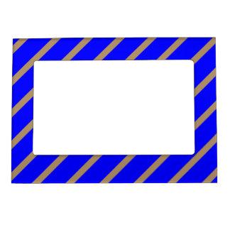 Magnetic Frame with Gold-Royal Blue Stripes