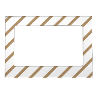 Magnetic Frame with Gold-White Stripes