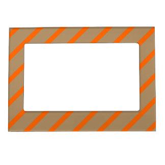 Magnetic Frame with Orange-Gold Stripes