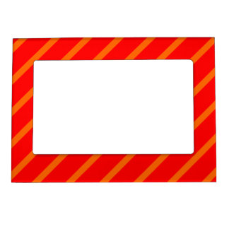 Magnetic Frame with Orange-Red Stripes