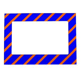Magnetic Frame with Orange-Royal Blue Stripes
