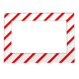 Magnetic Frame with Red-White Stripes