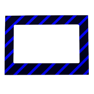 Magnetic Frame with Royal Blue-Dark Blue Stripes