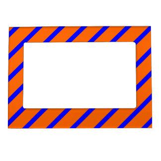 Magnetic Frame with Royal Blue-Orange Stripes
