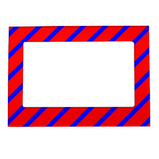 Magnetic Frame with Royal Blue-Red Stripes