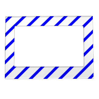 Magnetic Frame with Royal Blue-White Stripes