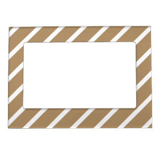 Magnetic Frame with White-Gold Stripes