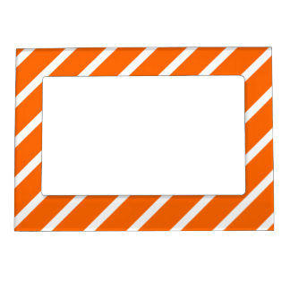 Magnetic Frame with White-Orange Stripes