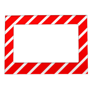 Magnetic Frame with White-Red Stripes