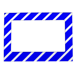 Magnetic Frame with White-Royal Blue Stripes