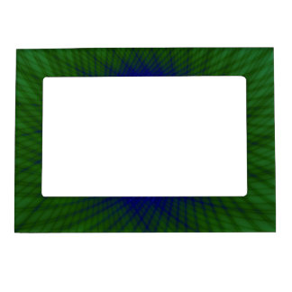 Magnetic Frame  Woven Frame in Green and Blue