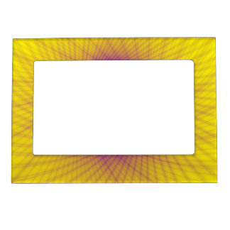 Magnetic Frame  Woven Frame in Yellow and Blue