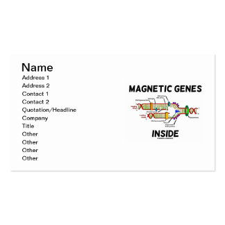 Magnetic Genes Inside (DNA Replication) Business Card