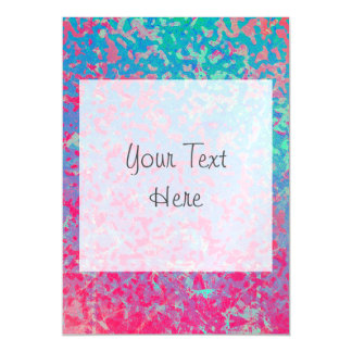 Magnetic Invitation Colorful Corroded Background