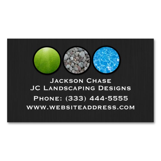 Magnetic landscape grass rocks water business card zazzle magnetic landscape grass rocks water business card colourmoves