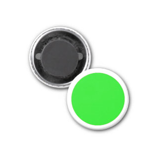 Magnetic Large Green RAINBO White Game Piece 1 Inch Round Magnet