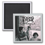 Magnetic Magic YOUNG&PUNK Logo 2 Inch Square Magnet