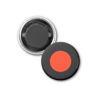 Magnetic Medium Red RAINBO Black Game Piece 1 Inch Round Magnet