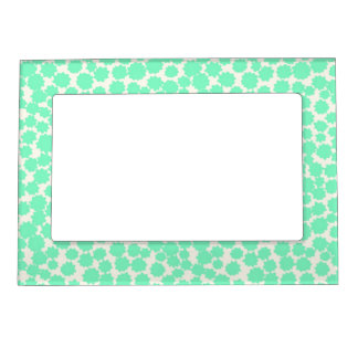 Magnetic Photo Frame- Mint Tiny Stars! Magnetic Picture Frame