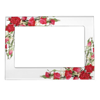 Magnetic Picture Frame/Red Roses Magnetic Photo Frame