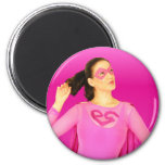 Magnetic Pink Girl Magnets