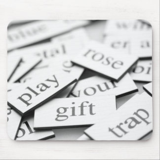 Magnetic Poetry Puzzle Pieces Mouse Pad