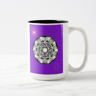 'Magnetic Purple Sunshine' Two-Tone Coffee Mug