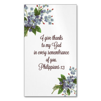 Magnetic Scripture Holy Card GIFT Religious