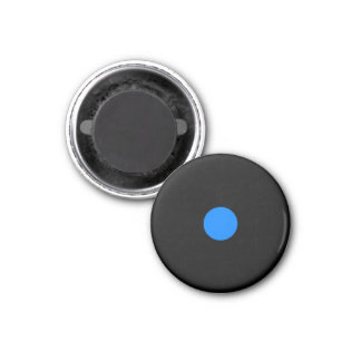 Magnetic Small Blue RAINBO Black Game Piece 1 Inch Round Magnet