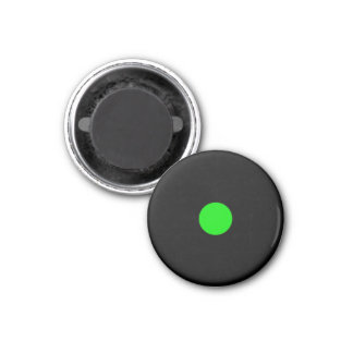 Magnetic Small Green RAINBO Black Game Piece 1 Inch Round Magnet