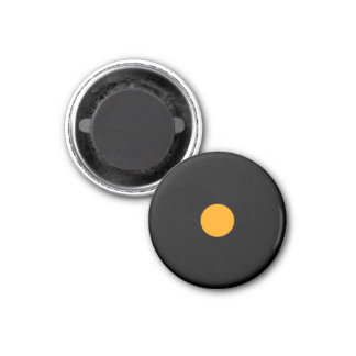 Magnetic Small Orange RAINBO Black Game Piece 1 Inch Round Magnet