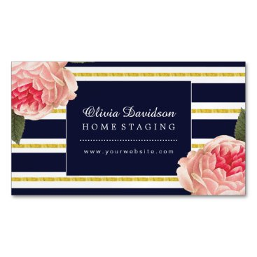 Professional Business Magnetic Stylish Home Staging Business Cards