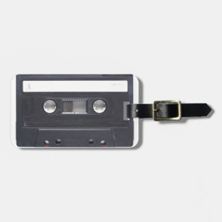 magnetic tape audio cassette luggage tag
