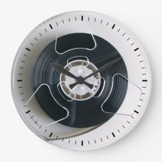 magnetic tape reel wall clock