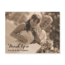 Magnetic Wedding Photo Thank You