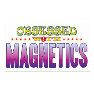 Magnetics 2 obsesionado tarjetas de visita