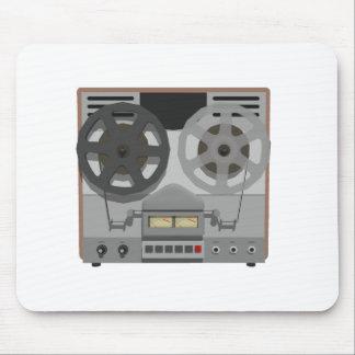 Magnetófono de carrete: modelo 3D: Tapetes De Ratón
