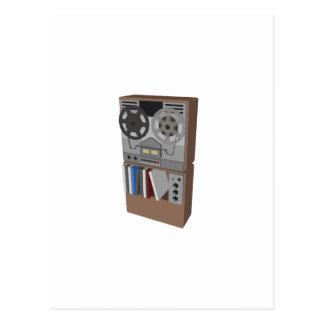 Magnetófono de carrete: modelo 3D: Postal