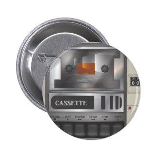 magnetófono de casete chapa redonda 5 cm