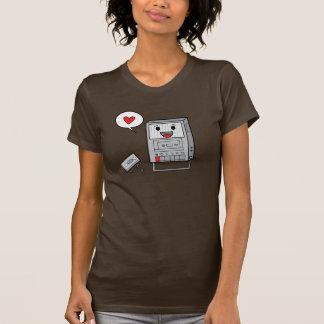 Magnetófono lindo - camiseta de las señoras
