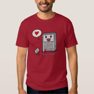 Magnetófono lindo - camiseta para hombre playeras